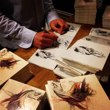 Signing the pre-orders!