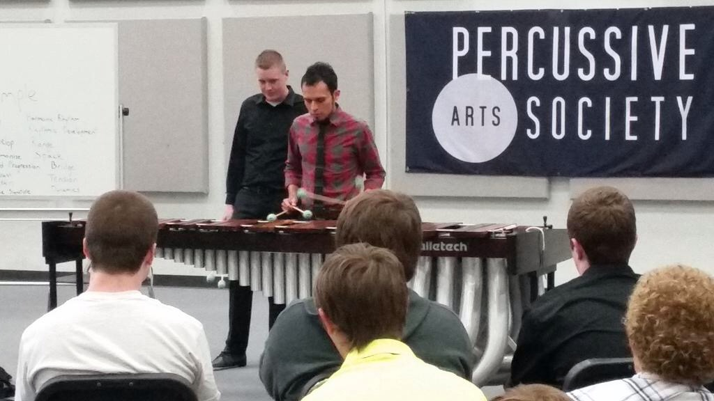 Intro to composing clinic at PAS Day of Percussion in OK.