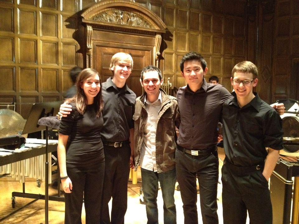 After a performance of Bloom by Eastman School of Music percussionists.