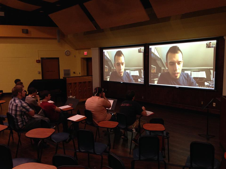 Skype Q&A with Mansfield University percussionists.