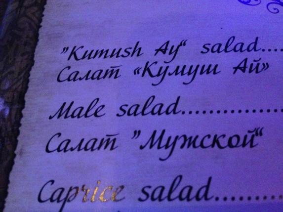 Male salad?