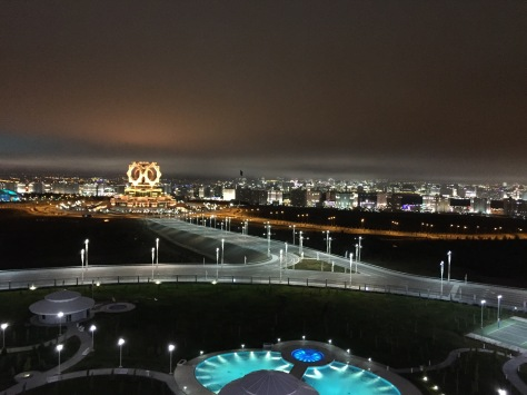 Ashgabat at night.