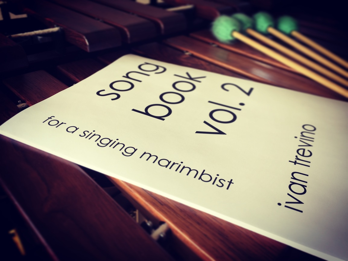 NEW RELEASE: Song Book, Vol. 2 for a singing marimbist