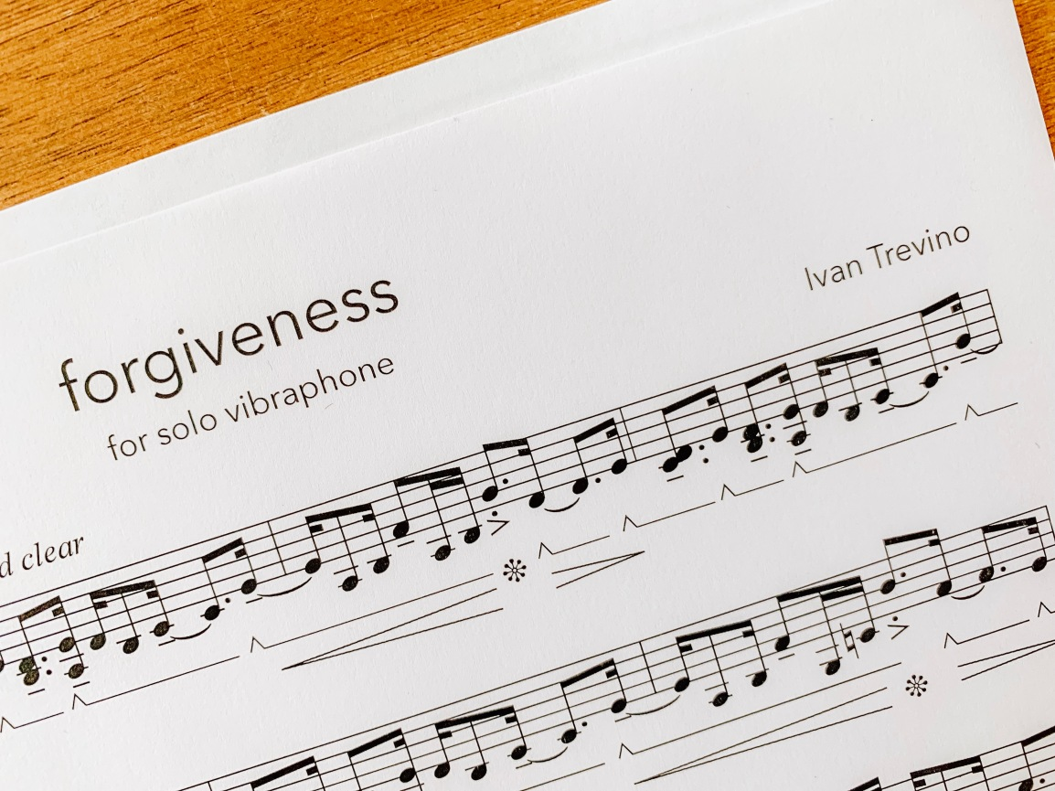 Forgiveness for solo vibraphone